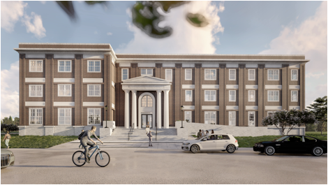 Daniel House will be a three-story apartment building for upperclassmen at Southern Methodist University in Dallas.