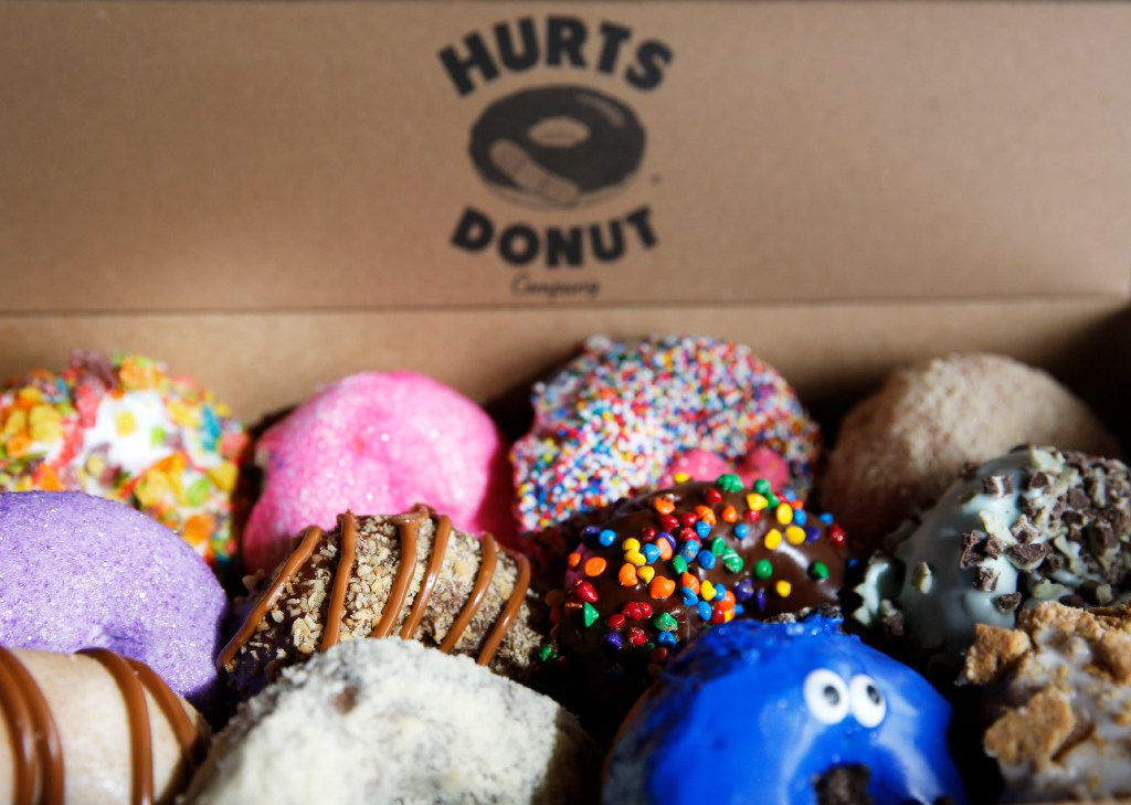 An assortment of donuts at Hurts Donut Co. in Frisco on Tuesday, January 24, 2017. This is Hurts Donut Co.'s first Texas location. (Vernon Bryant/The Dallas Morning News)