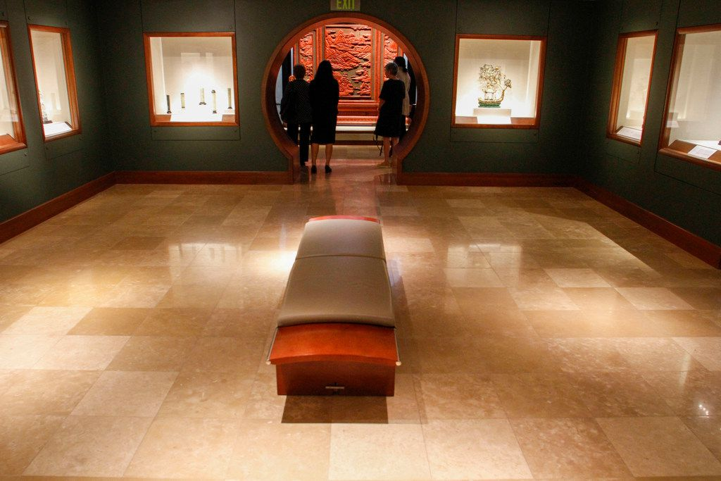 The Jade room with the Immortal Landscapes exhibit displayed at the Crow Museum of Asian Art in Dallas on Wednesday, September 26, 2018. (Brian Elledge/The Dallas Morning News)