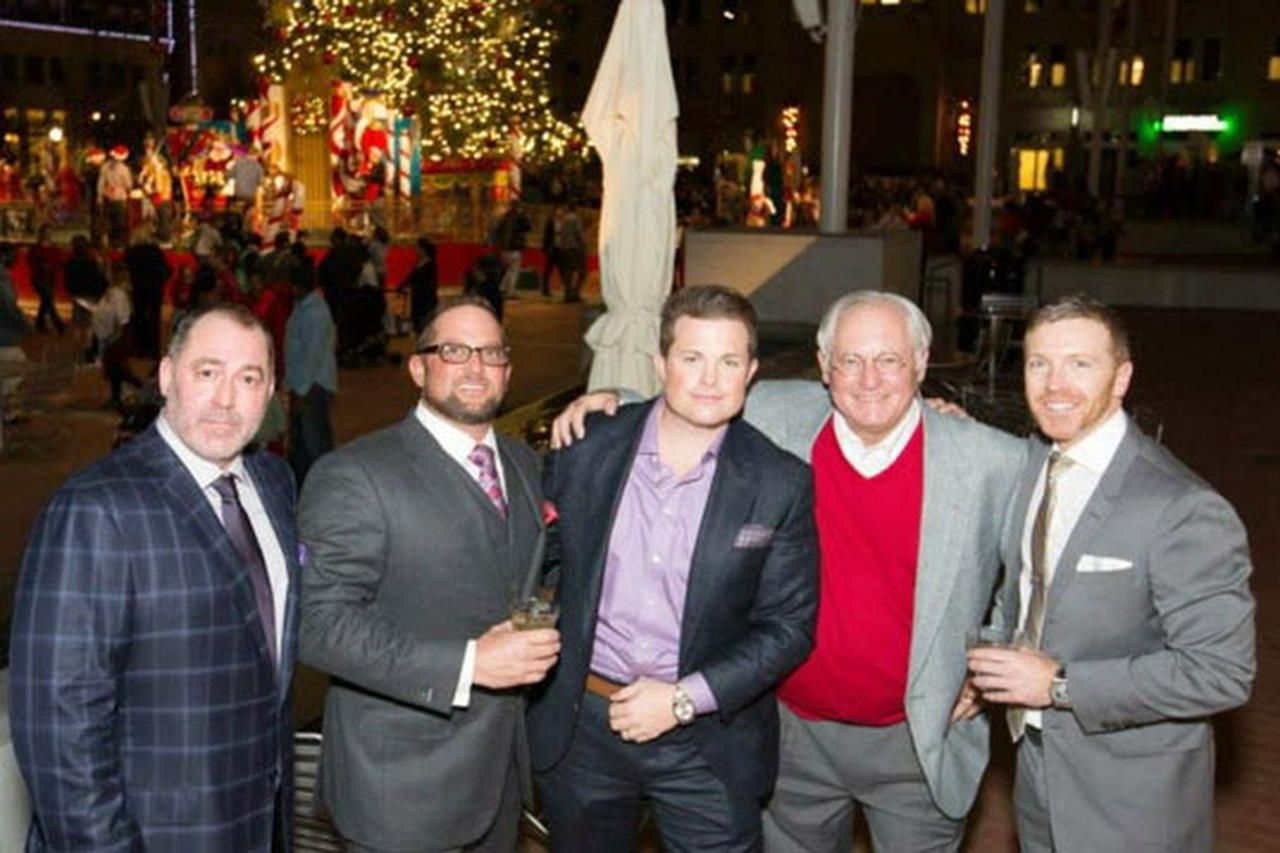 From left: Lewis Hall  and his son, Richard, with partners Dustin Rall, Scott Schuster and Luke Zeutzius.