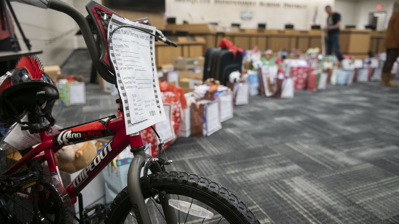 Bus drivers in Mesquite collected toys, clothes and food for 68 children for Christmas.
