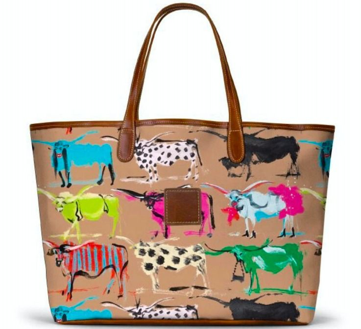 Sales of this tote by artist Donald Robertson benefit the Dallas Children's Advocacy Center.