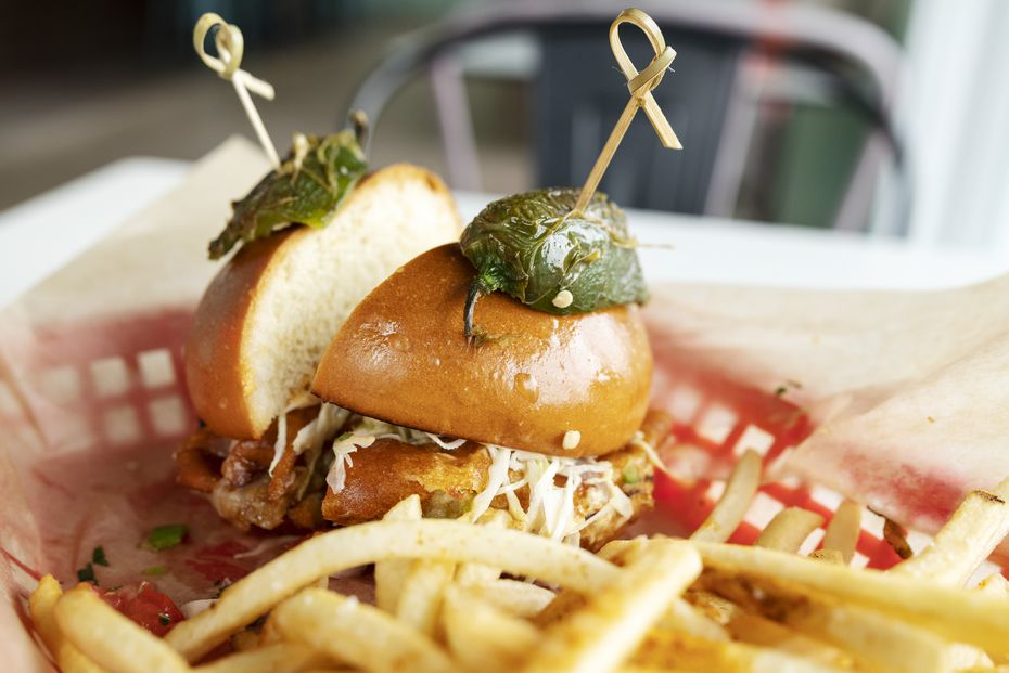 """The Campeona (""""champion"""") burger at Milagro is a serious sandwich."""