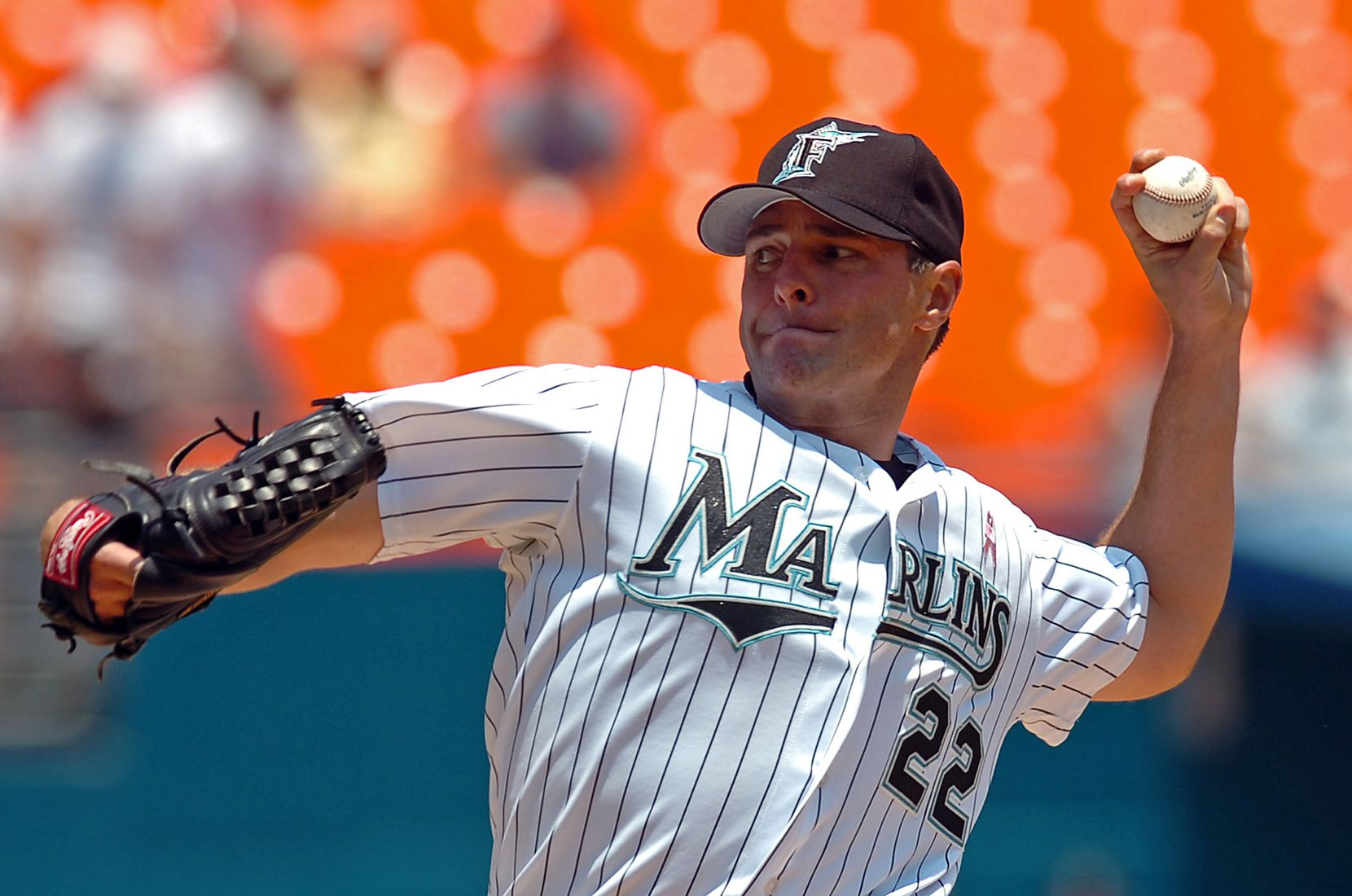 Florida Marlins starting pitcher Al Leiter throws during the first inning against the Colorado Rockies Sunday, May 8, 2005, in Miami.