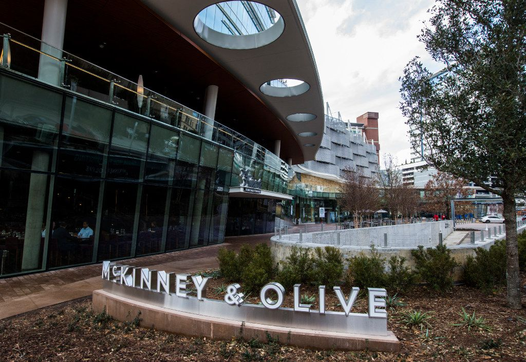 The  McKinney & Olive shopping center on Wednesday, January 11, 2017 on McKinney Avenue in Dallas. (Ashley Landis/The Dallas Morning News)