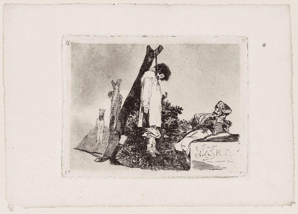 Francisco de Goya y Lucientes Tampoco. Disasters of War 35 1811