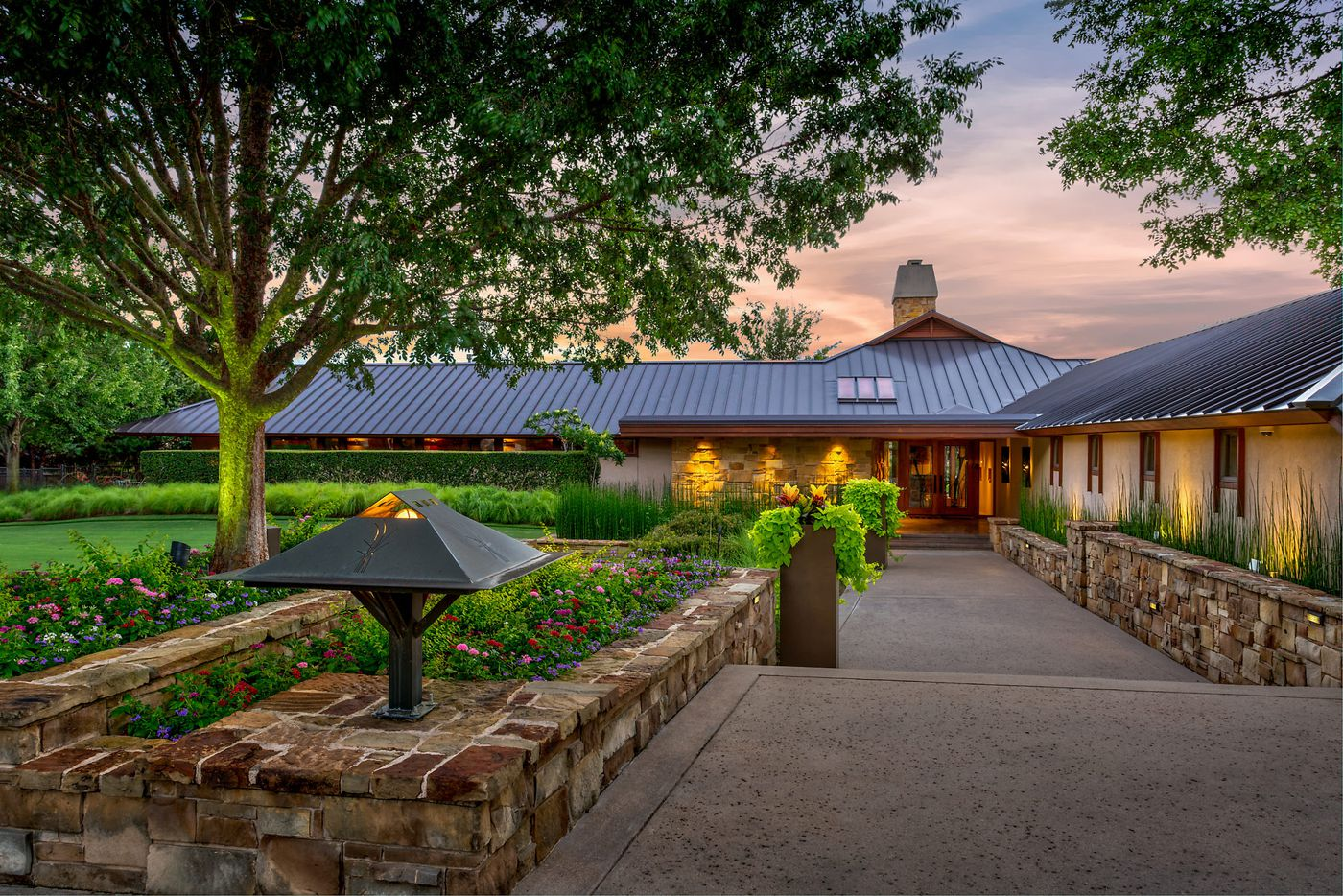 A look at the exterior of 4808 Bill Simmons Road in Colleyville, TX.