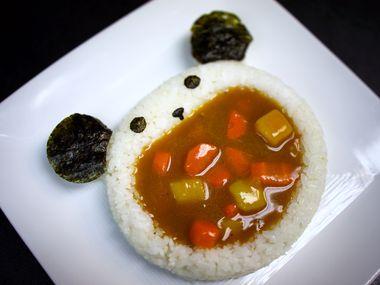 Kids curry at Okaeri Cafe