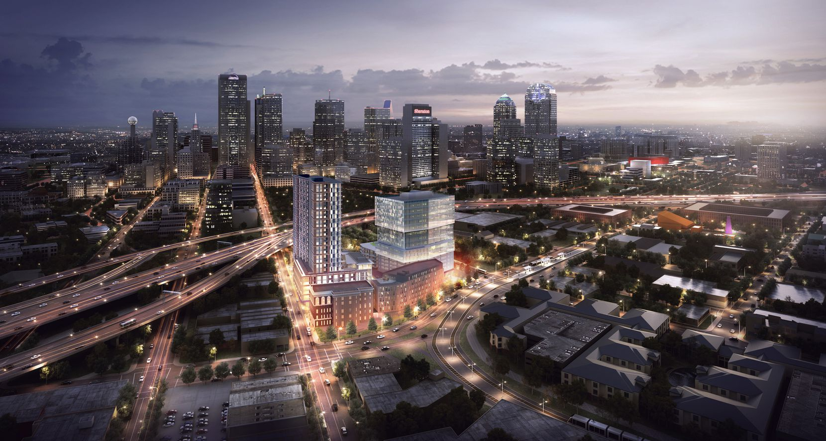 The Epic mixed-use project is being built on the eastern edge of downtown Dallas.