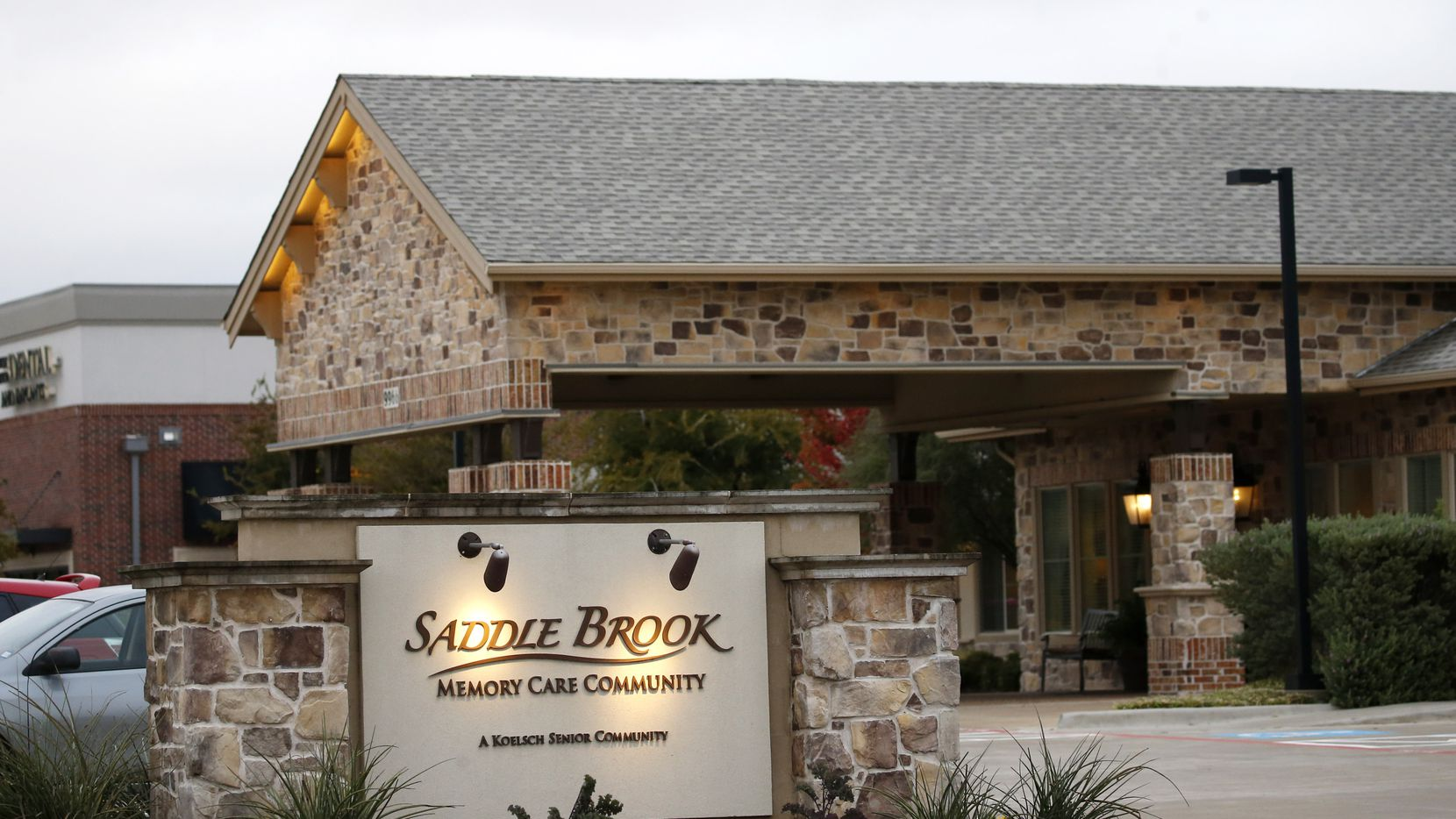 Saddle Brook Memory Care Community on Wednesday, October 28, 2020 in Frisco, Texas. The facility has had at least 6 people die from COVID-19. (Vernon Bryant/The Dallas Morning News)
