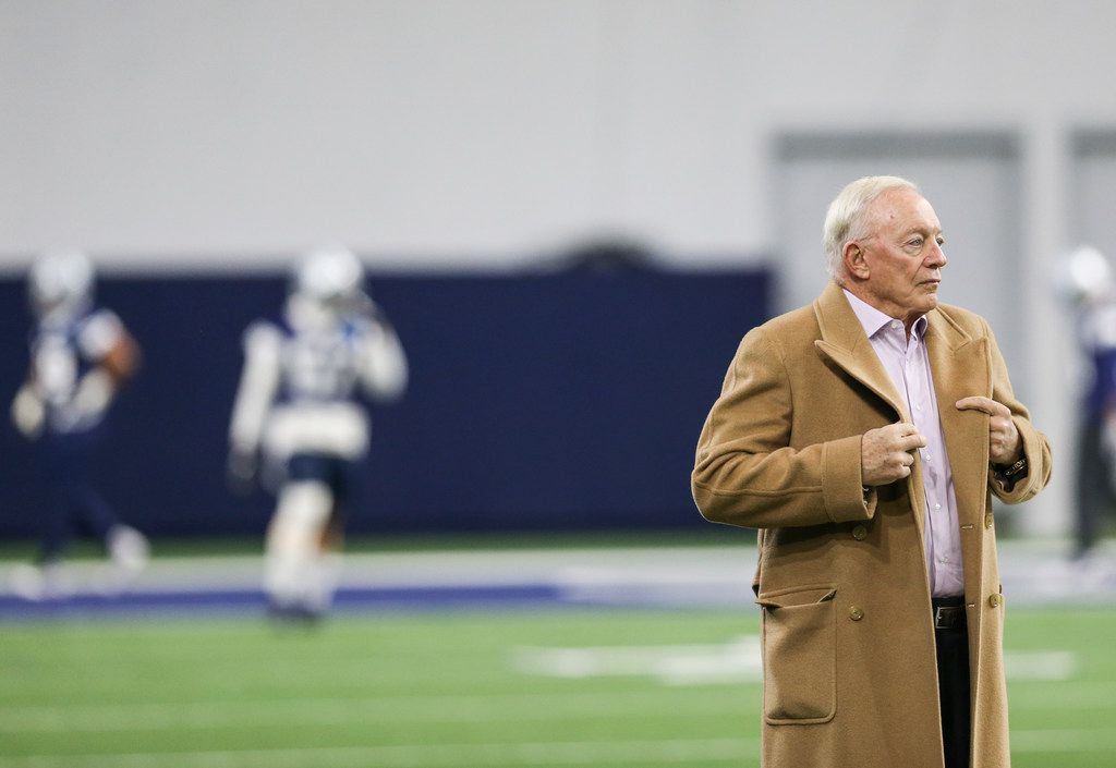 Dallas Cowboys Owner Jerry Jones watches during a Cowboys practice Thursday, Jan. 3, 2019 at The Star in Frisco, Texas. (Ryan Michalesko/The Dallas Morning News)