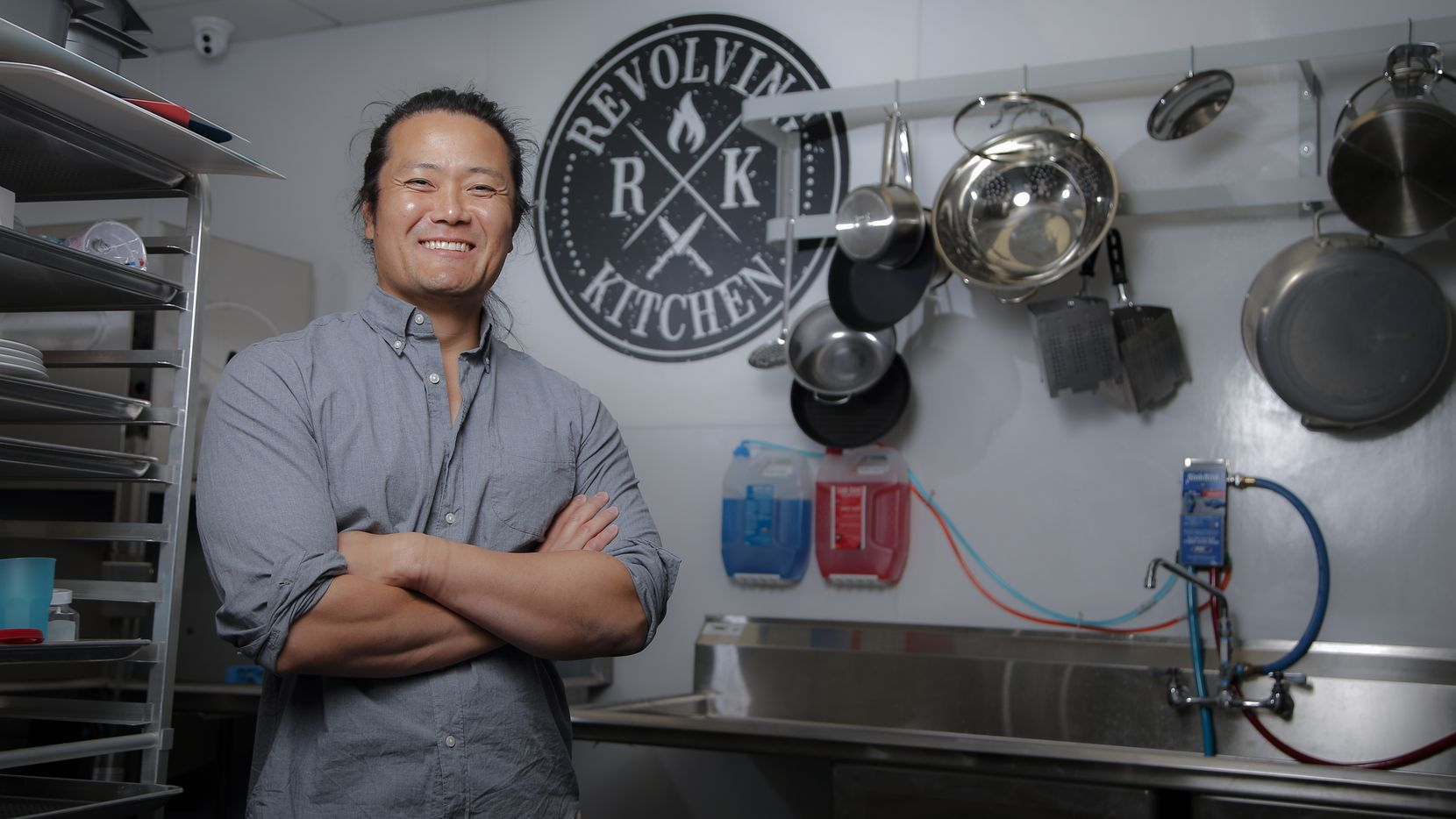 Tyler Shin is owner and managing member of Revolving Kitchen in Garland. Revolving Kitchen's 25 units are rentable by the hour or on a long-term basis. (Brandon Wade/Special Contributor)