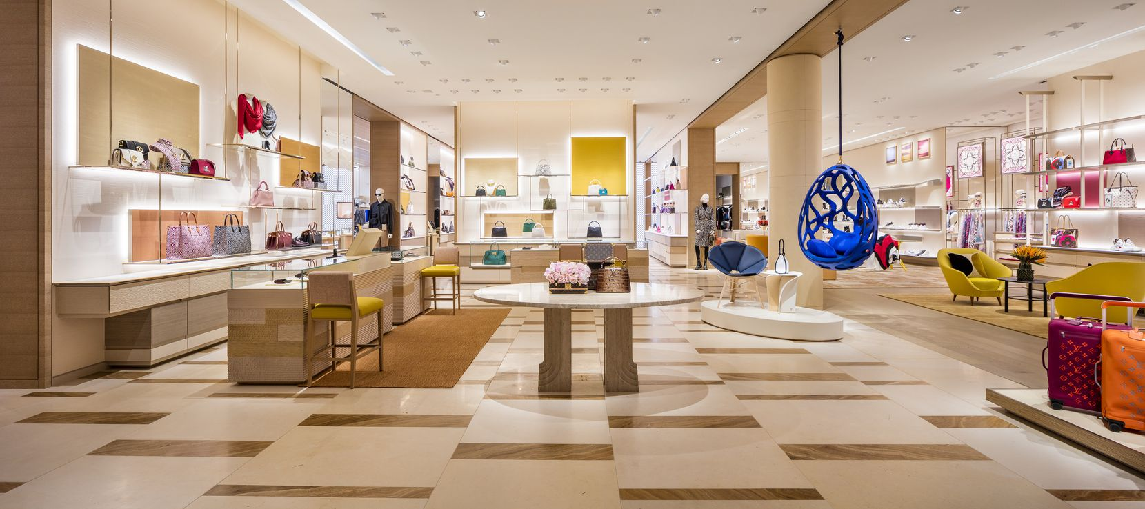 A Louis Vuitton store that's twice as big as the old one opens at NorthPark Center on Saturday, Nov. 14. The store has added furniture for sale.