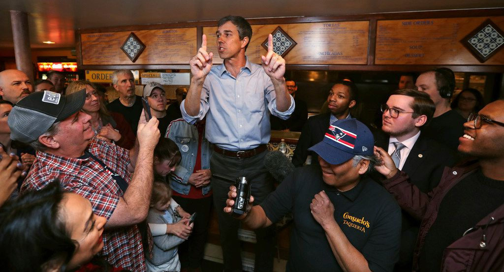Beto O'Rourke's nascent White House run has drawn plenty of attention from Texas Sens. Ted Cruz and John Cornyn, both Republicans.
