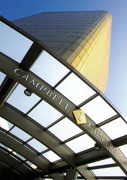 The gold glass Campbell Centre I tower caught everyone's eye with its reflective exterior.