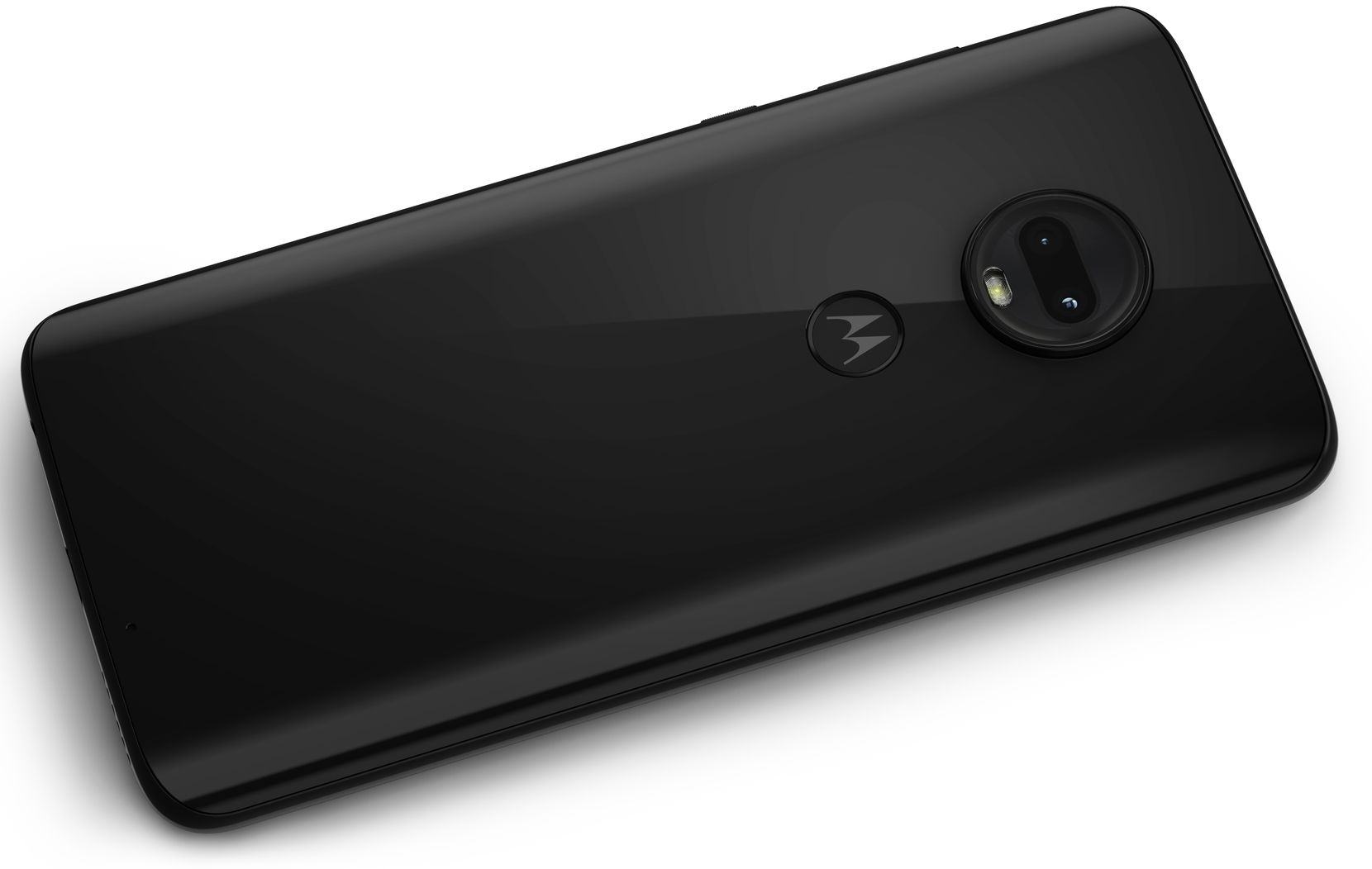 The back of the Motorola Moto G7, showing both cameras