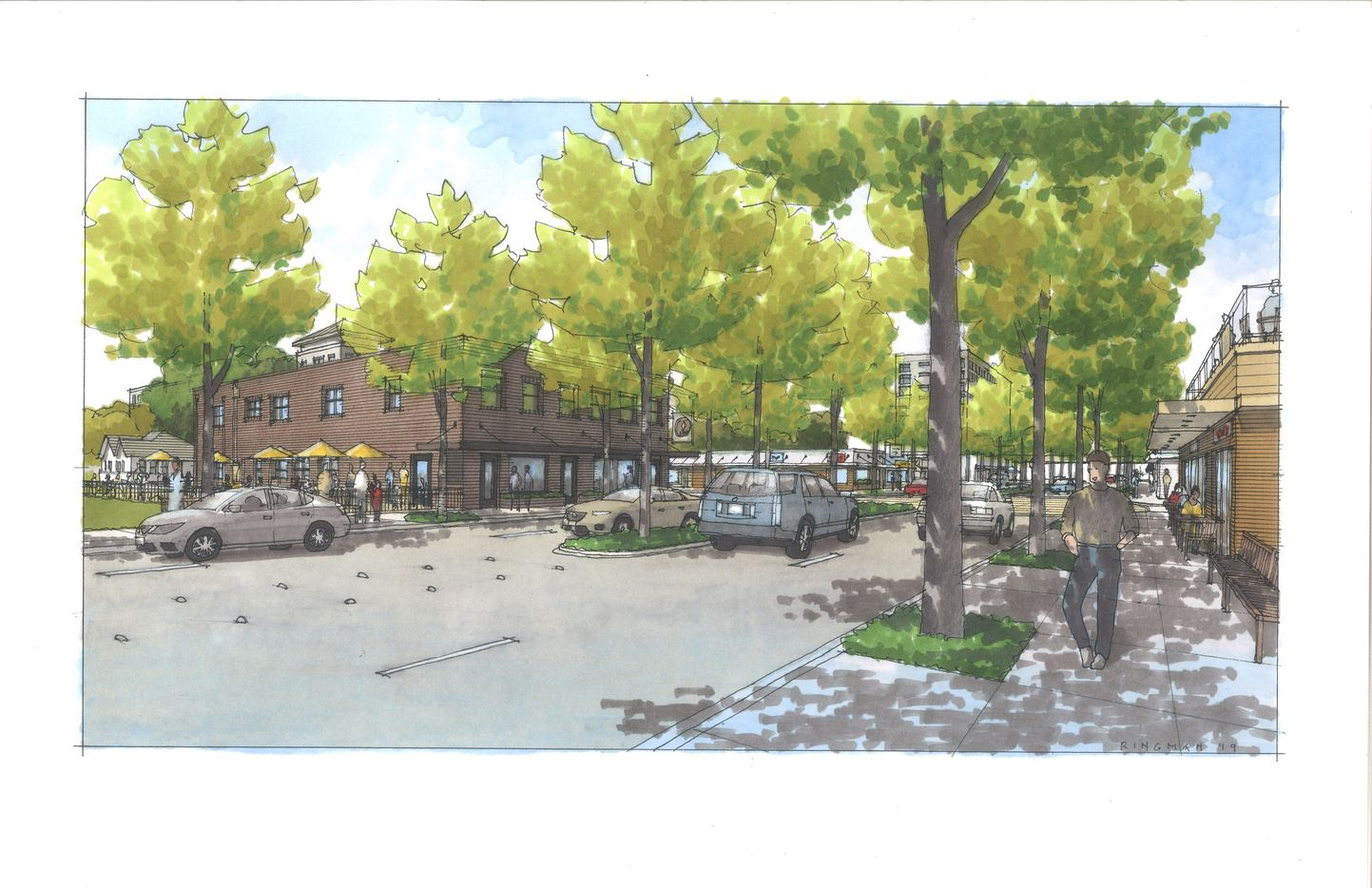 Richardson's old downtown district will get new retail and commercial construction.
