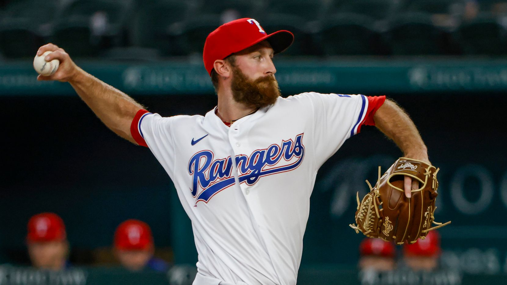 Texas Rangers relief pitcher Spencer Patton pitches during the top of the ninth inning at Globe Life Field in Arlington, Texas, in Dallas on Wednesday, June 9, 2021. This was his first MLB appearance in 5 years.