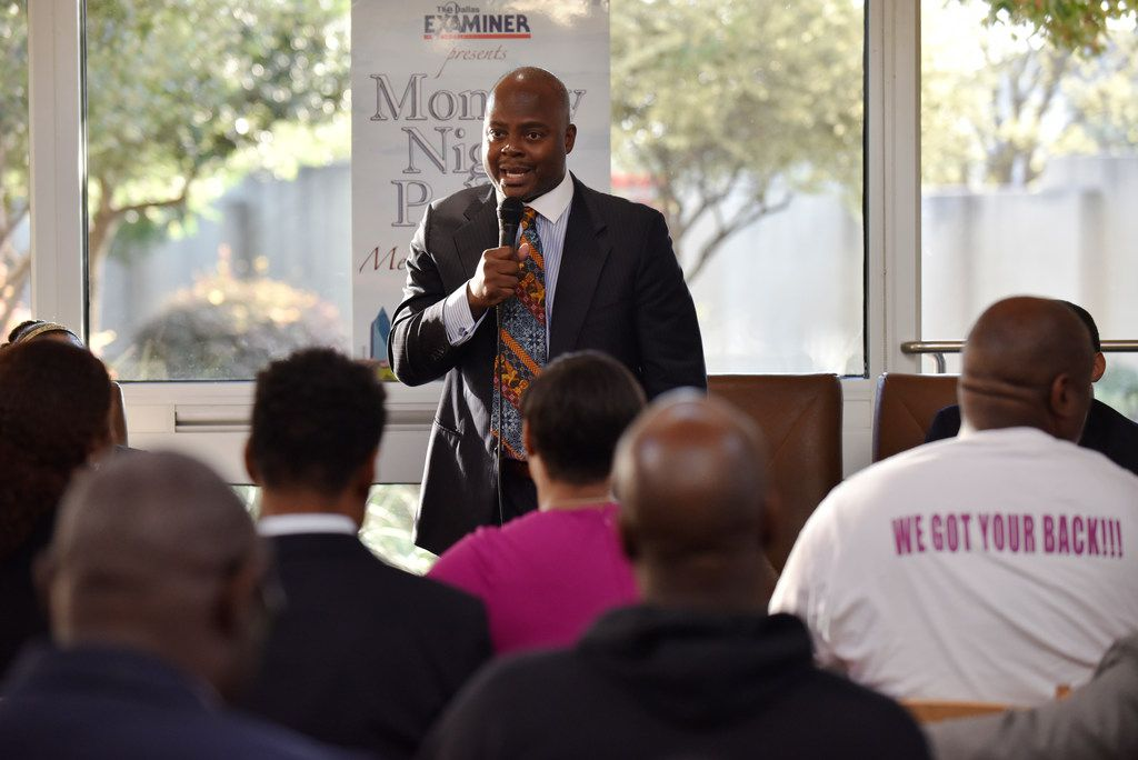 Candidate Calvin Johnson for city council district 7 speaks during Monday Night Politics with the candidates, presented by The Dallas Examiner, Monday March 25, 2019 at the African American Museum at Fair Park in Dallas. Ben Torres/Special Contributor