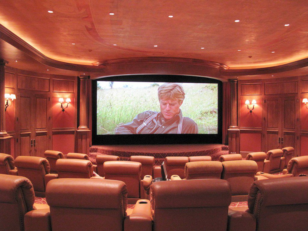 The Lodge at Mesa Vista ranch includes a private theater that seats 30.