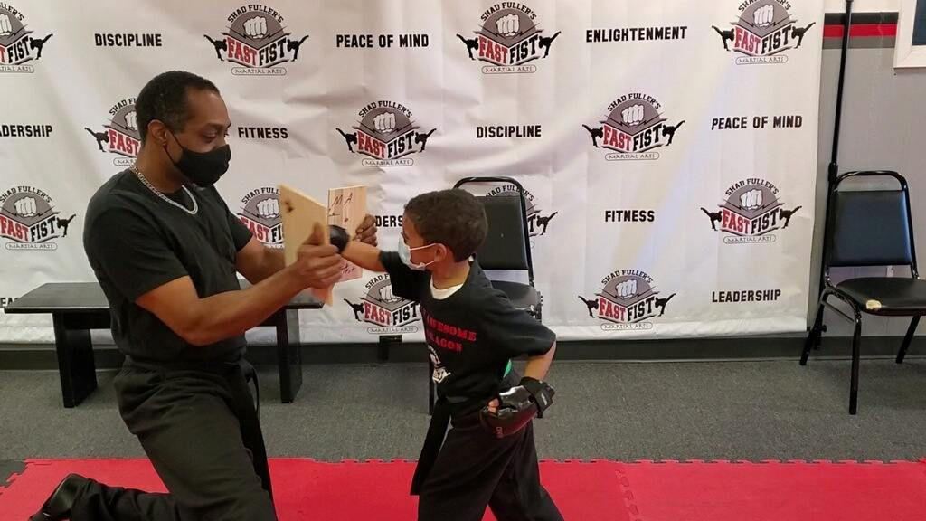 Shad Fuller, who owns Fast Fist Martial Arts in DeSoto, Texas, has been practicing martial arts for close to 40 years and seeks to instill discipline and create leaders through his practice. He reopened his business June 17, 2021, after it closed during the COVID-19 pandemic.