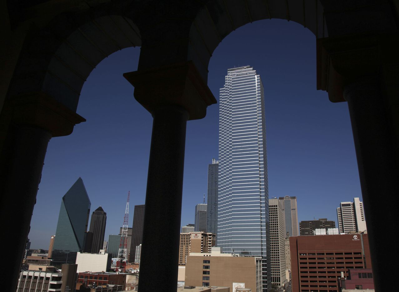 The Bank of America building has been the tallest on Dallas' skyline for more than 35 years.