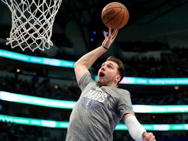 Luka Doncic #77 of the Dallas Mavericks works through pregame warm up before taking on the New Orleans Pelicans at American Airlines Center on March 04, 2020 in Dallas, Texas. (Photo by Tom Pennington/Getty Images)