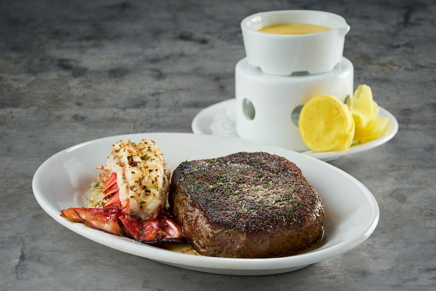 Ruth's Chris Steak House offers dads a surf-and-turf special starting at $59 that includes a choice of ribeye, plus a coldwater lobster tail, salad and a personal side.