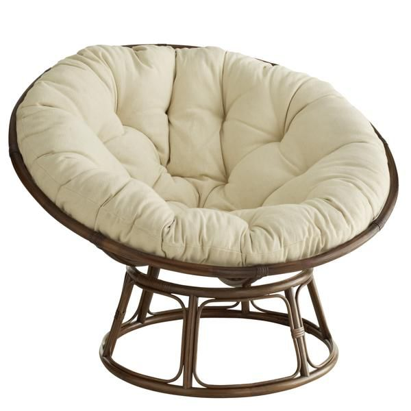 Handcrafted of natural rattan, the legendary papasan chair is not only comfortable but long-lasting, Pier 1 said in its promotions. Cushions are 50 inches in diameter and available in a variety of colors to coordinate with dorm decor.