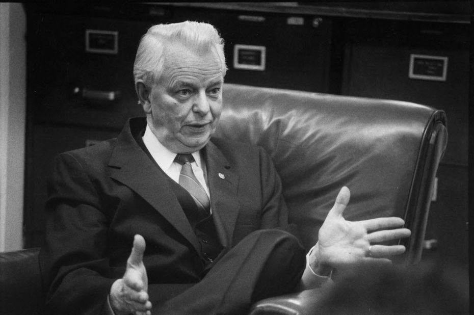 Sen. Robert Byrd (D-W.Va.)  speaks about the Clean Air amendment in Washington, March 29, 2010. Byrd died Monday, June 28, 2010. He was 92. (Jose Lopez/ The New York Times)
