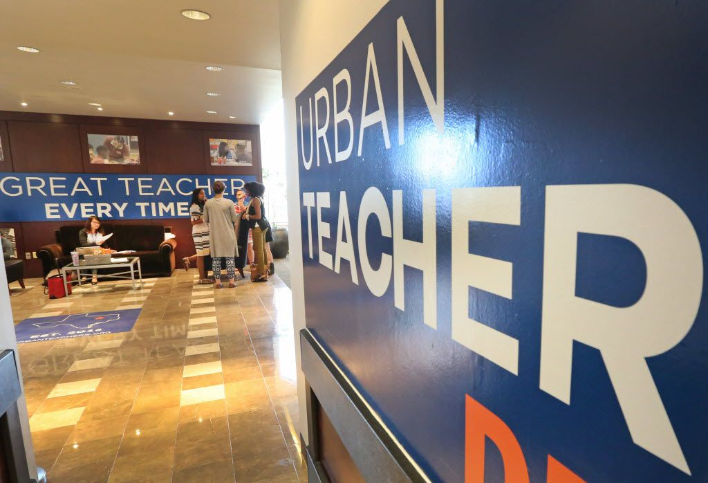 The scene at the Urban Teachers offices in Dallas, as DISD welcomes the first class of urban teachers into its classrooms this year. Photographed at the Urban Teachers office inside the Hilton Anatole Hotel in Dallas on Tuesday, August 22, 2016. (Louis DeLuca/The Dallas Morning News)