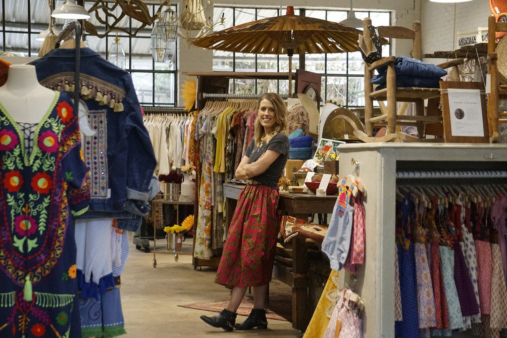 Brittany Cobb at her new store, Flea Style in Dallas on June 14, 2018. The hip new store in Deep Ellum carries handmade, vintage and one-of-a-kind products from small Texas businesses.  (Lawrence Jenkins/Special Contributor)