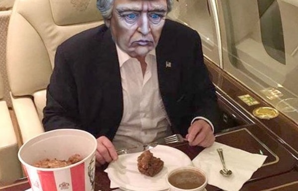 Memes de la foto del pastel de Donald Trump/ FOTO TOMADA DE TWITTER