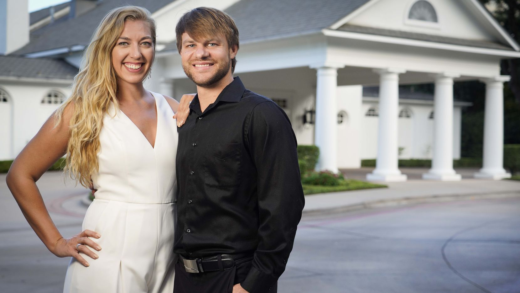 Christine and Daniel Twito postponed their wedding once but decided to move ahead in June with a smaller ceremony at Arlington Hall at Turtle Creek Park in Dallas.