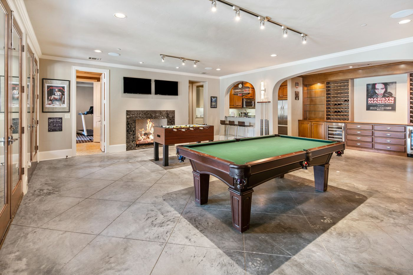 The basement at 3 Stonebriar Way in Frisco, TX.