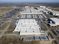 The Toyota Motor Manufacturing Texas Inc. plant in south Bexar County is seen in a 2013 aerial photo.