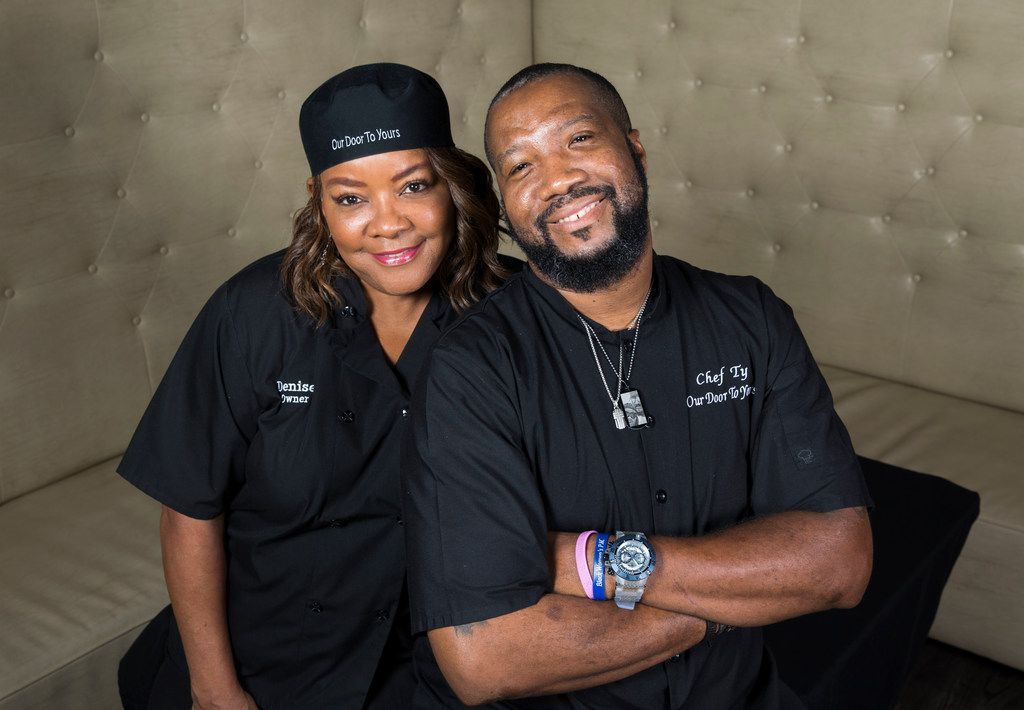 Our Door to Yours owner Denise Harper and her fiance, chef Ty Frazier.