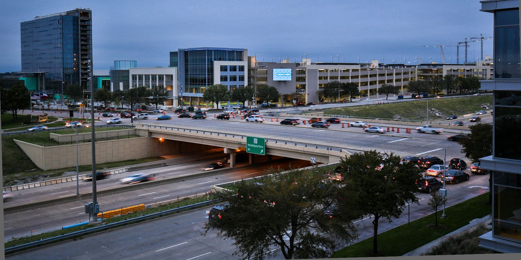 Boeing is locating its new office in the Legacy West Urban Village which is at the Dallas North Tollway and Legacy Drive.