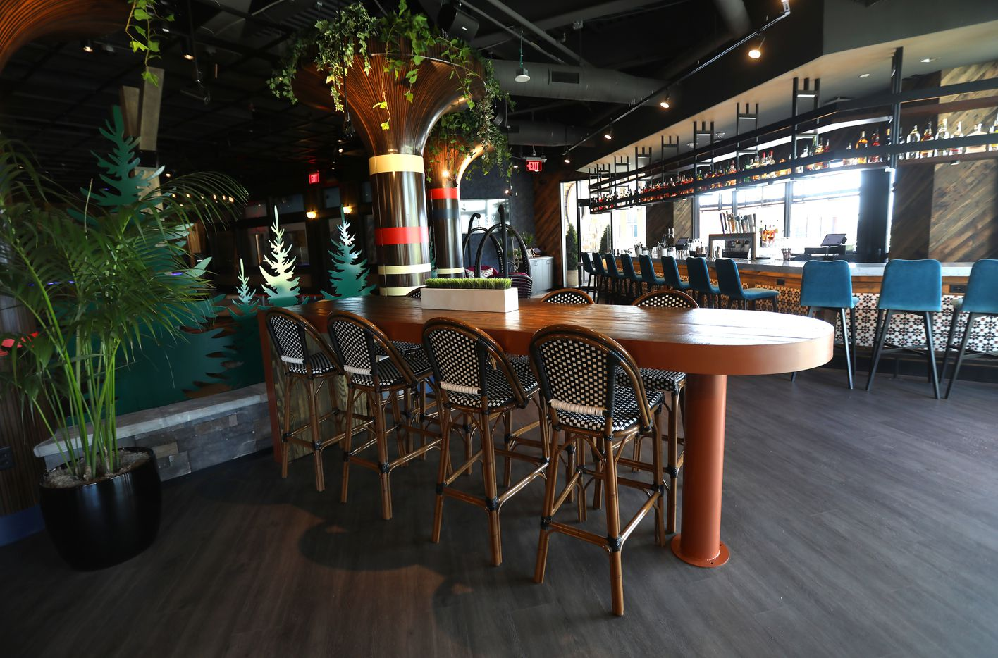 One of the bar areas at Puttery, a new indoor mini golf and entertainment concept in The Colony, Texas, Monday, August 30, 2021. (Anja Schlein/Special Contributor)