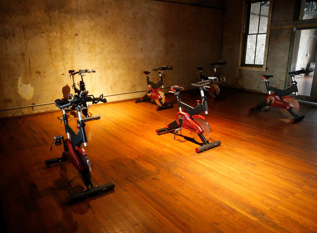 Stationary bikes at Flacas Fitness and Brews in Hico.
