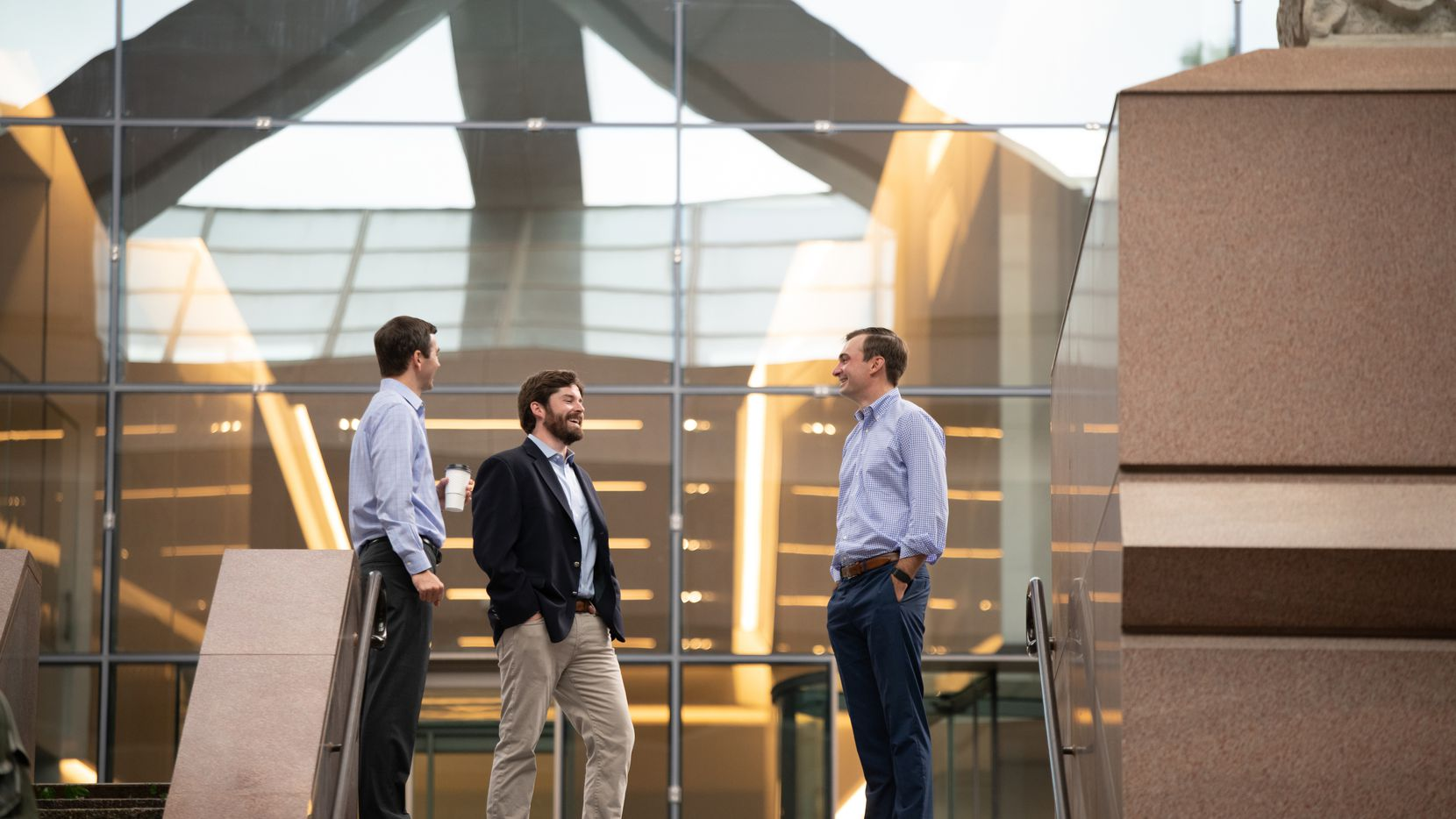 (From left) Trinity Hunt Partners' Garrett Greer, principal George Morgan and principal John Oakes.