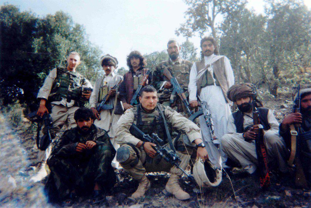 Brandon Friedman (far left) in Afghanistan.