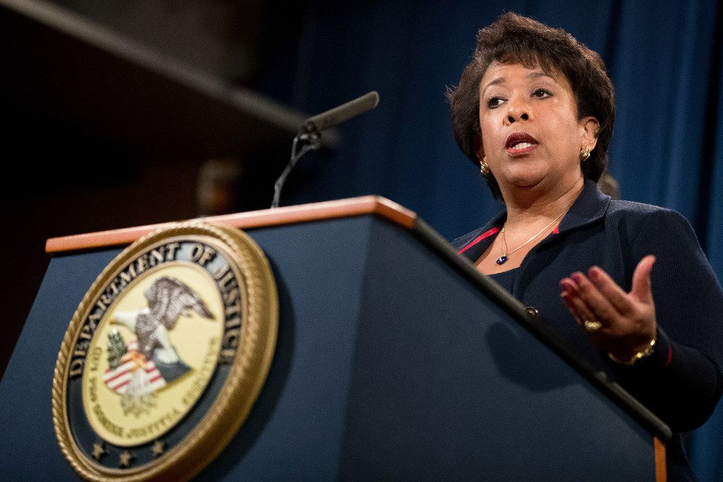 Attorney General Loretta Lynch is attending events in Dallas this week. (File Photo/The Associated Press)