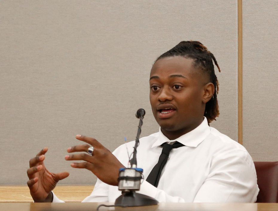 Vidal Allen testified Thursday about the night his stepbrother, Jordan Edwards, was killed. (Rose Baca/Staff Photographer)