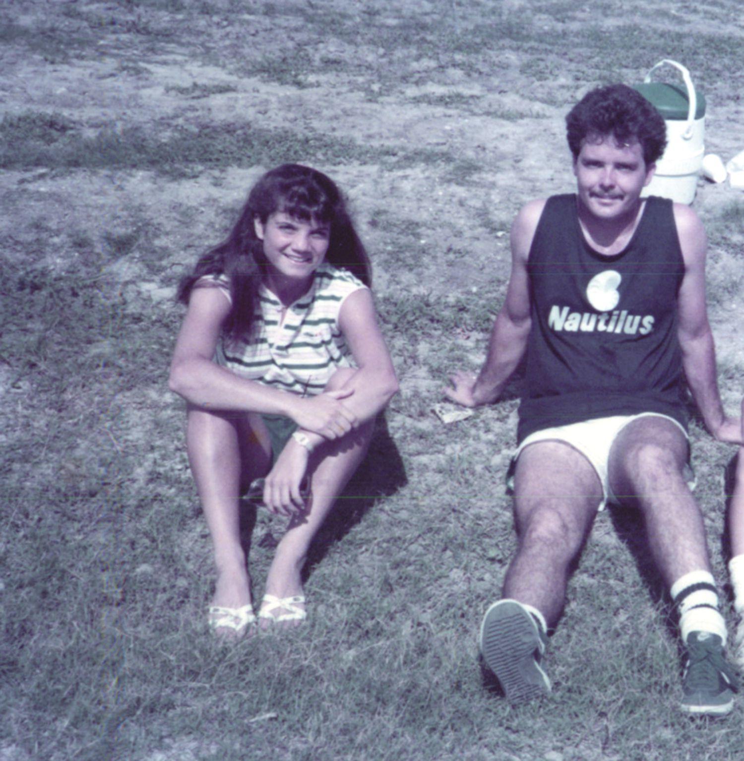 Laura Anton and Tristan Longnecker in 1984.