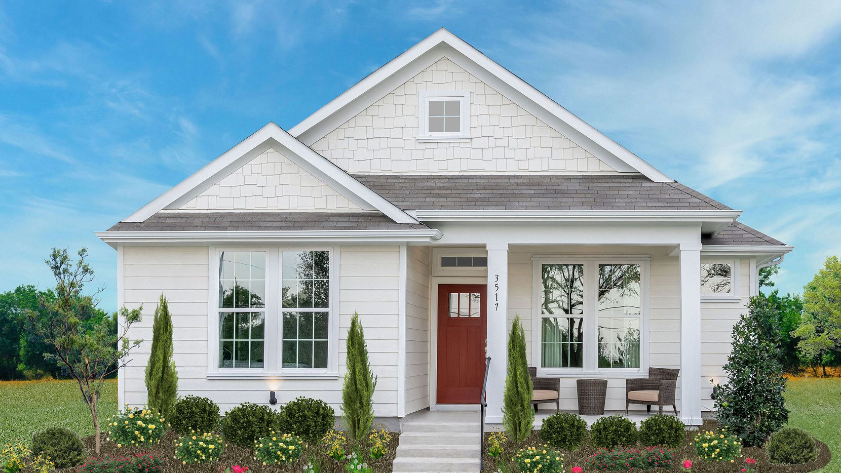 The 2021 McSam Awards-winning Jasmine 15 plan from Landon Homes is open for touring at 3517 Petals Place in Rowlett's Magnolia Landing community.