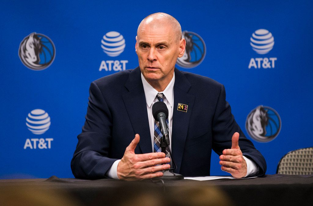 Dallas Mavericks head coach Rick Carlisle speaks to reporters after the Dallas Mavericks beat the Denver Nuggets 113-97 on Wednesday, March 11, 2020 at American Airlines Center in Dallas. During the game, the NBA suspended all games due to the spread of Corona Virus.