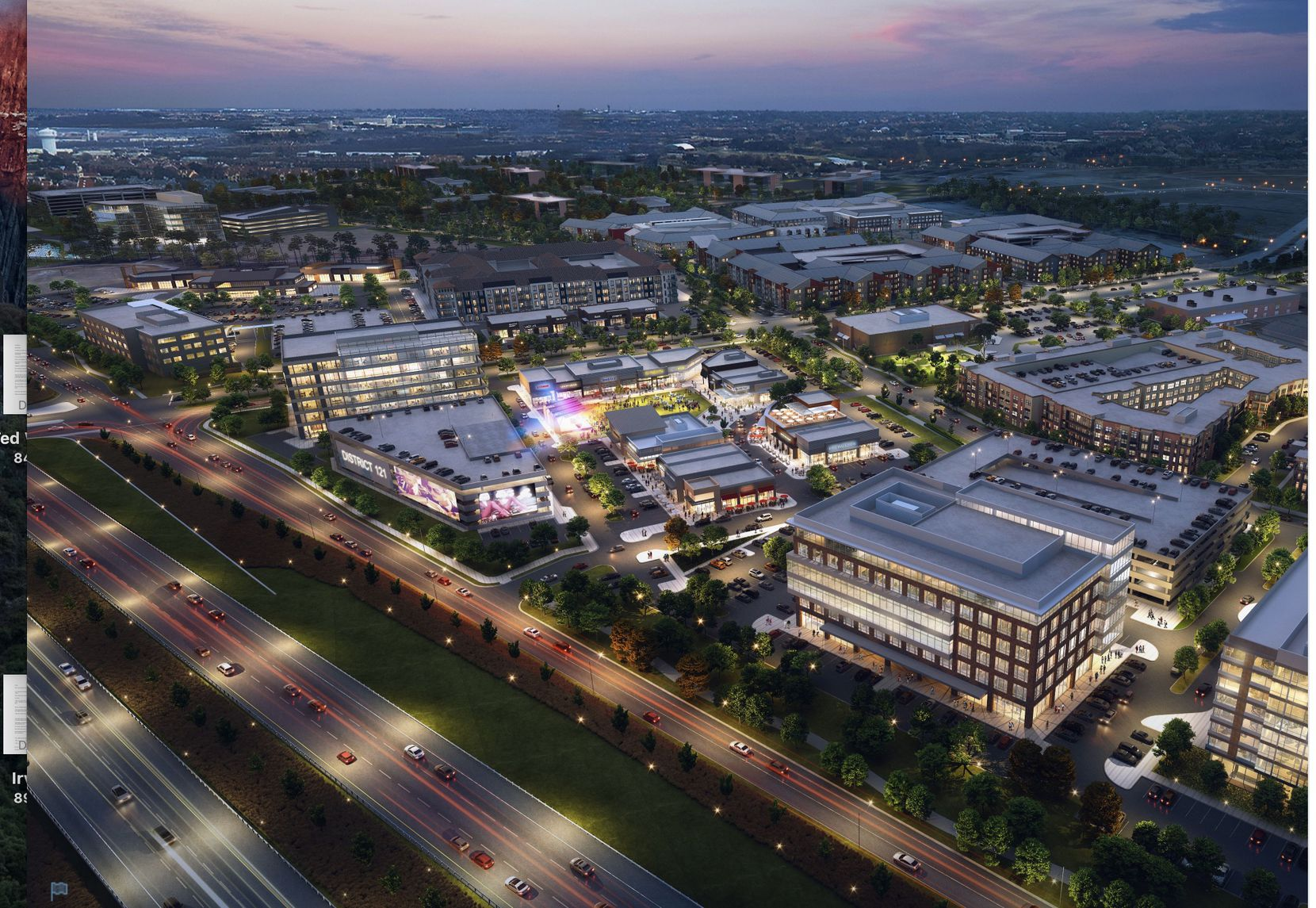 The $250 million District 121 project will include offices and retail along State Highway 121 in McKinney.
