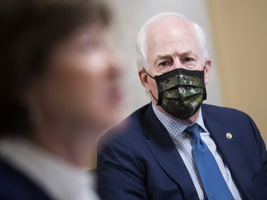"""Texas Sen. John Cornyn, a Republican, has rejected the impeachment case against Trump, saying that """"I don't think you can impeach a president for constitutionally protected speech, which I believe this was."""""""