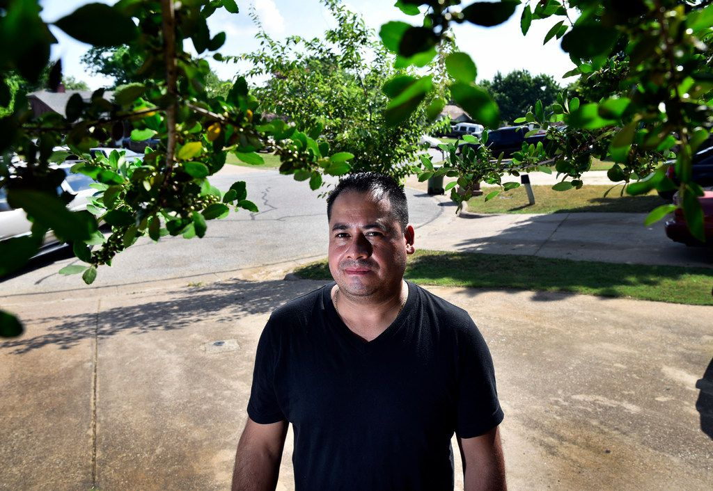 Leonardo Alvarez, 38, outside of his home in Arlington, Monday morning, May 28, 2018. Alvarez, originally of the Mexican state of Guanajuato, had to pay for a $20,000 immigrant bond.